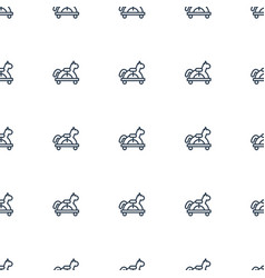 toy horse icon pattern seamless white background vector image