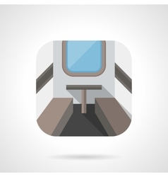 Train compartment flat color design icon vector image