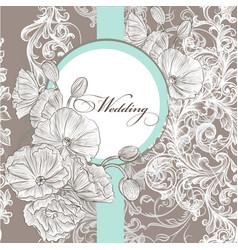 wedding invitation card in pastel color vector image