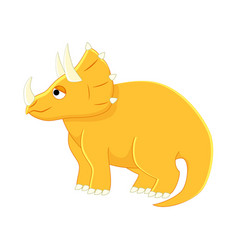 cute cartoon triceratops of vector image