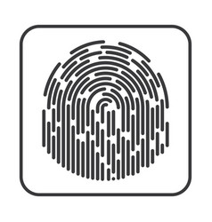 fingerprint on white background vector image vector image