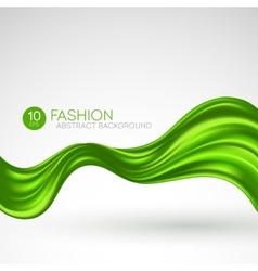 Green flying silk fabric Fashion background vector image vector image