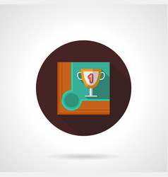Snooker championship flat brown round icon vector
