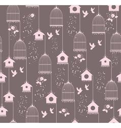 vintage bird house seamless vector image vector image