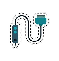 Cartoon computer cable connection plug vector