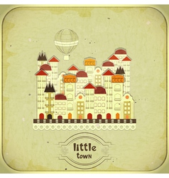 Cartoon little town vector