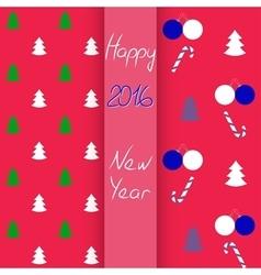 Christmas and New Year seamless set vector image
