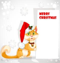 Christmas Santa Cat vector image