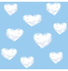 clounds shaped heart vector image vector image