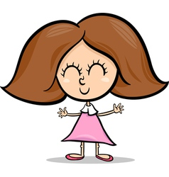 cute little girl cartoon vector image vector image