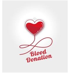 Donate blood logo vector