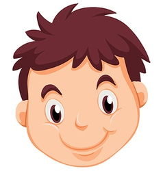 A head of a young man vector image vector image