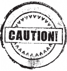 caution stamp vector image
