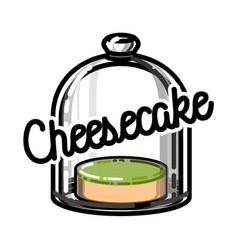 Color vintage cafe emblem vector
