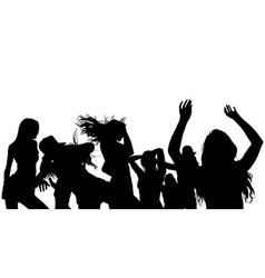 Dancing Crowd Silhouette vector image vector image