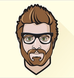 Flat design mans portrait vector image vector image
