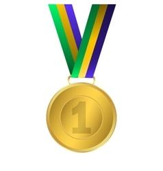 Gold medal winner vector image vector image