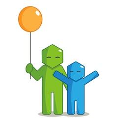 Hexagon Man - Giving Balloon vector image vector image
