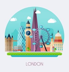 London Skyline and landscape of buildings the vector image vector image