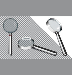 magnifying glass eps10 vector image