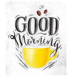 poster good morning vector image
