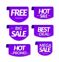 Sale tags labels special offer hot sale discount vector