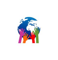 save the earth concept logo vector image