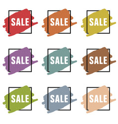 sale icon design set vector image vector image