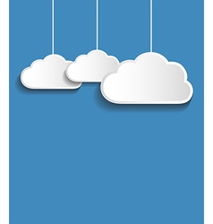 white clouds vector image vector image