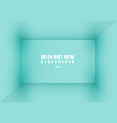 3d empty green mint room modern blank interior vector image