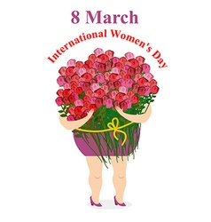 8 March International womens day Happy woman vector