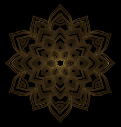 abstract art deco flower mandala vector image