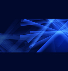 abstract blue banner design vector image