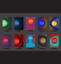 abstract circles design colorful cover set vector image