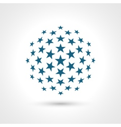 Abstract circular shape Stars elements vector