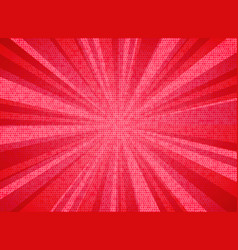 abstract sun burst living coral color of the year vector image
