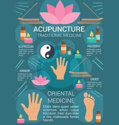 Acupuncture traditional medicine poster vector