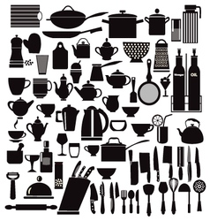 All kitchen goods kitchen and restaurant icon vector