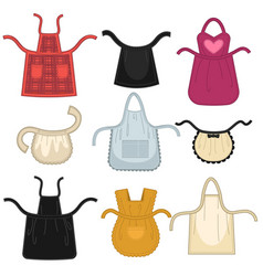 Aprons different isolated icons vector