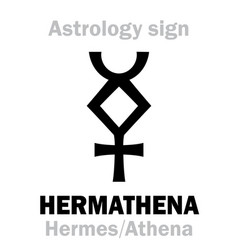 Astrology hermathena hermes athena vector