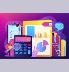 Audit service concept vector