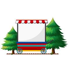 Banner design on mobile shop vector