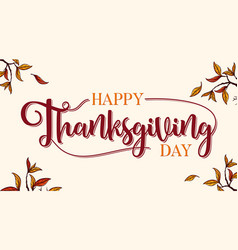 banner happy thanksgiving day vector image