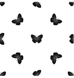 Black butterfly pattern seamless black vector