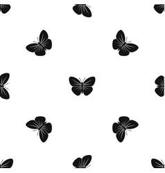Black butterfly pattern seamless black vector
