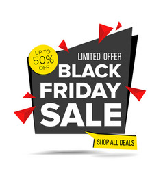 Black friday sale banner advertising vector