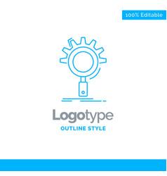 blue logo design for seo search optimization vector image