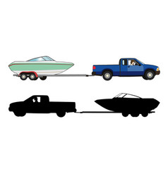 Boat trailer vector