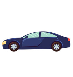 car isolated on white background sedan vehicle vector image
