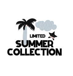 card with lettering new summer collection in vector image